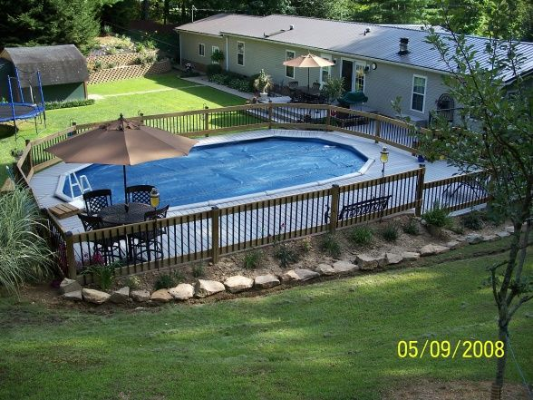 Best 20 oval above ground pools ideas on pinterest for Above ground pool decks tampa