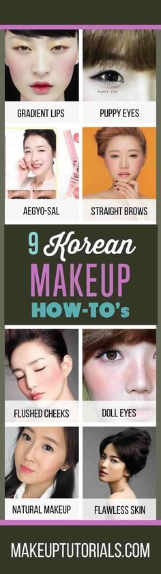 9 Korean Makeup Tutorials | How To Do Korean Makeup & Awesome Korean Makeup Products By Makeup Tutorials. http://makeuptutorials.com/makeup-tutorials-how-to-do-9-korean-makeup-looks/