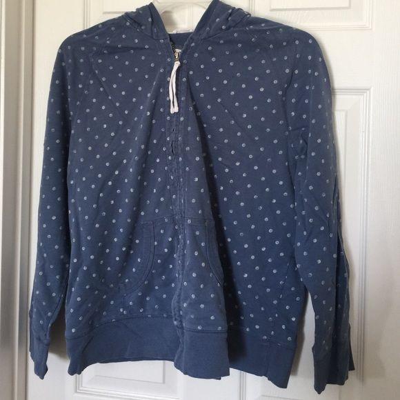 Zip up hoodie~BUNDLE ME~ Merona blue and white zip up hoodie. Gently used. Merona Other
