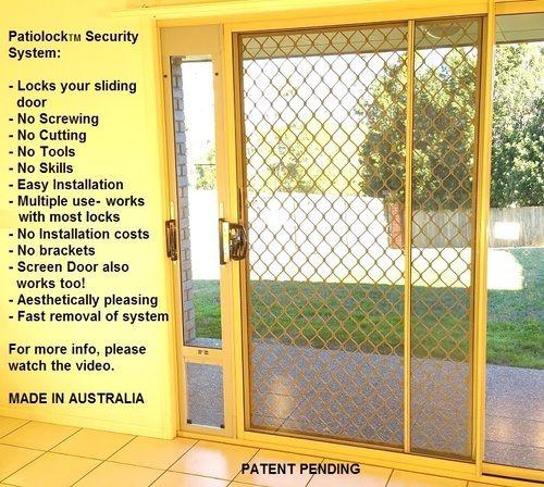 PatioLock Pet Doors: Ultimate Security + Convenience: Locks your sliding door without screwing/cutting/tools! Multi-use. - Modern Pet Doors