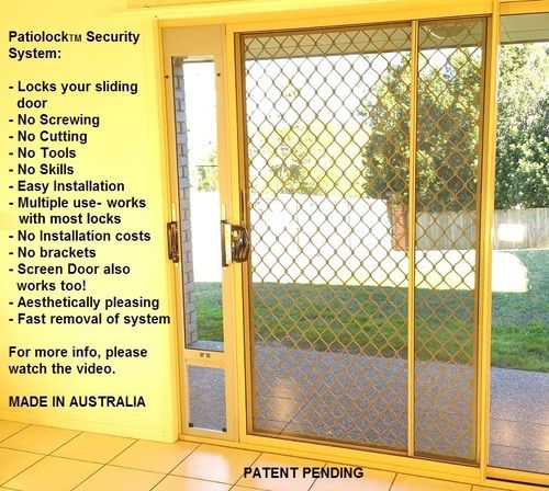 PatioLock Pet Doors: Ultimate Security + Convenience: Locks your sliding door without screwing/cutting/tools! Multi-use. - Modern Pet Doors