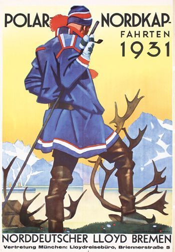 1931 Ludwig Hohlwein - Norddeutscher Lloyd Polar North Cape Rides