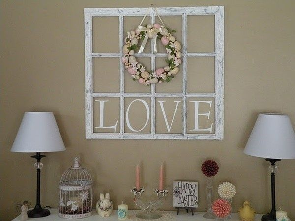 Craft Ideas For Old Window Frames
