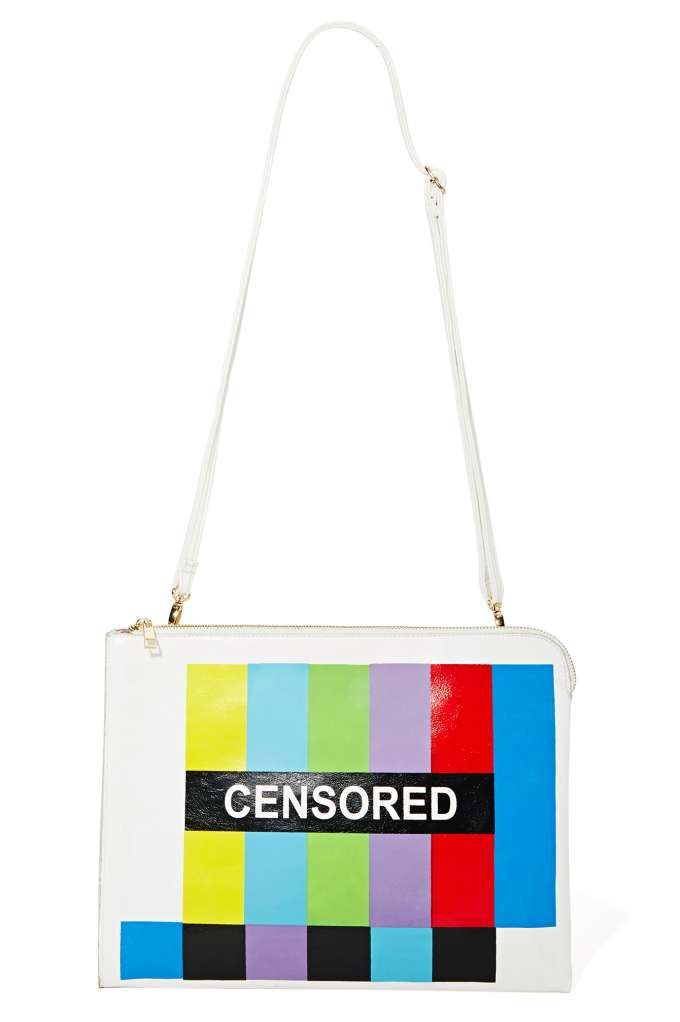 VIDA Leather Statement Clutch - Handbag Censor Awareness by VIDA MAFsdi