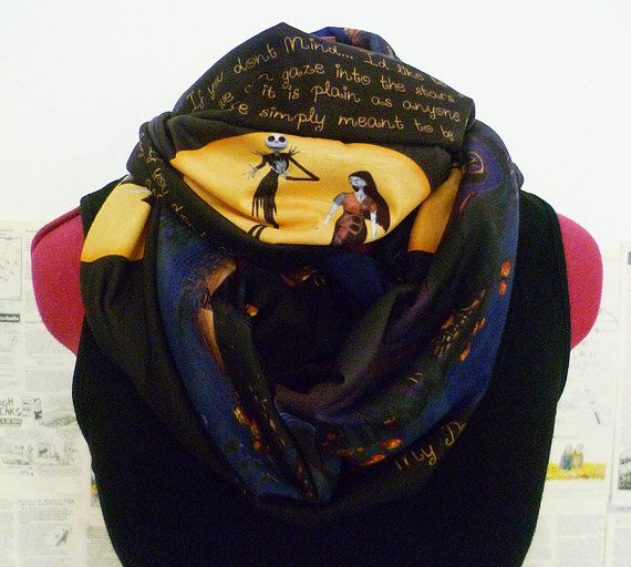 friendship jewelry Nightmare Before Christmas  Scarf Infinity Scarf by RoobyLane