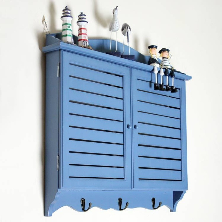 The blue blinds meter box decorative box block the box Mediterranean decorative mural wall weak box-ZZKKO