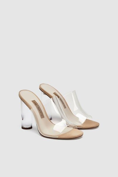 827c5ba2c Vinyl mules with methacrylate heel in 2019 | Women's Footwear | Zara ...