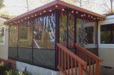 Clear Vinyl Plastic Panels For Winterizing A Porch Deck