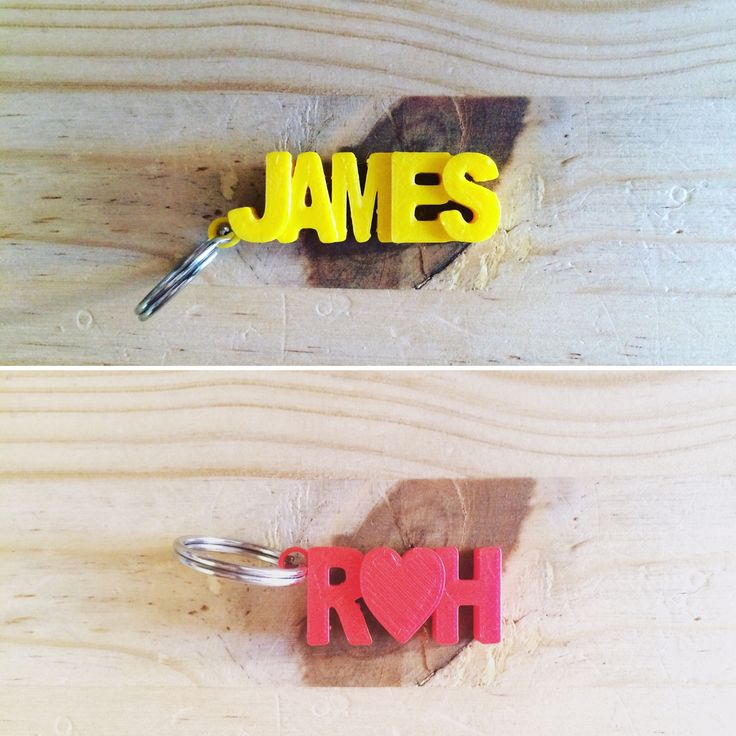 3D Printed Name Key Rings by Cancore 3D Printing #3dprinting