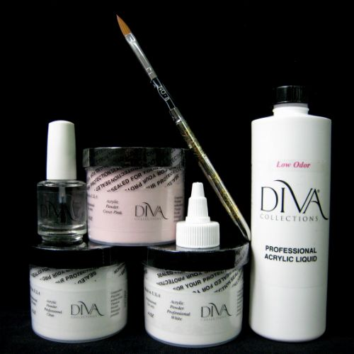 professional acrylic nail starter kit. professional low odor acrylic starter kit: diva collections | nail and beauty products kit a