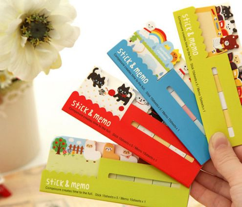 Adorable #stickynotes and #pagemarkers  Keep little notes in style!