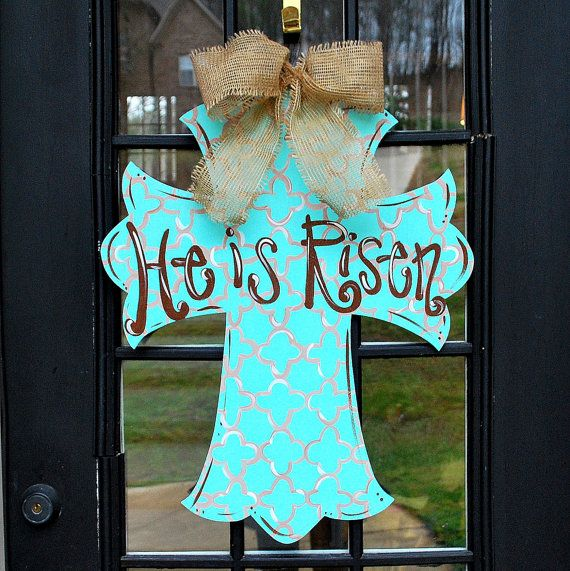 Door Hanger Cross Decorative Cross Wall Cross by LooLeighsCharm, $45.00
