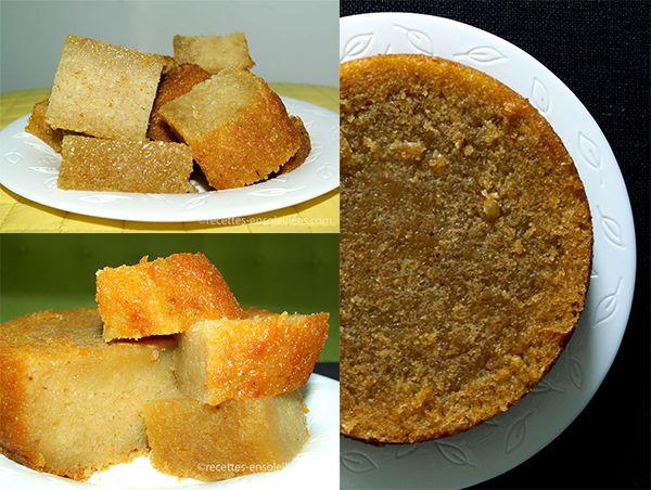 G teau de manioc au lait de coco cassave cake - Gateau avec beaucoup de lait ...