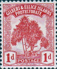 Gilbert and Ellice Islands 1911 SG 8 Tree Pandanus Pine Fine Mint SG 8 Scott 8 Other Commonwealth Stamps here