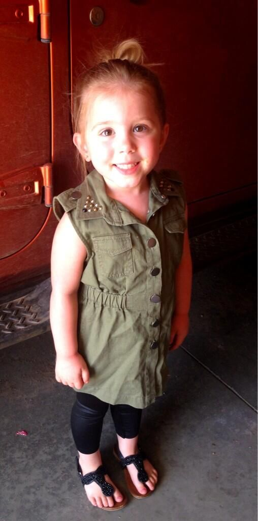 Aubree Houska Goes Edgy in Studded Dress! She is probably the cutest little girl ever.