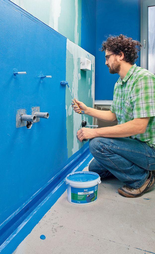 Dusche Abdichten Selbst De Wand Abdichten Schritt 12 Von 13 Abdichten Bohodecori In 2020 Basement Bathroom Remodeling Farmhouse Bathroom Decor Room Flooring