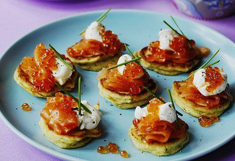 17 best ideas about smoked salmon blinis on pinterest for Canape ideas nigella