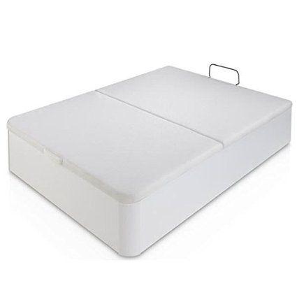 Sensation lit coffre adulte 140x190cm en blanc: Amazon.fr: Cuisine & Maison