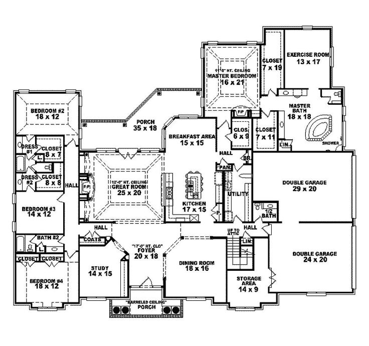 Sarala luxury sunbelt home first floor from for House plans and more com home plans