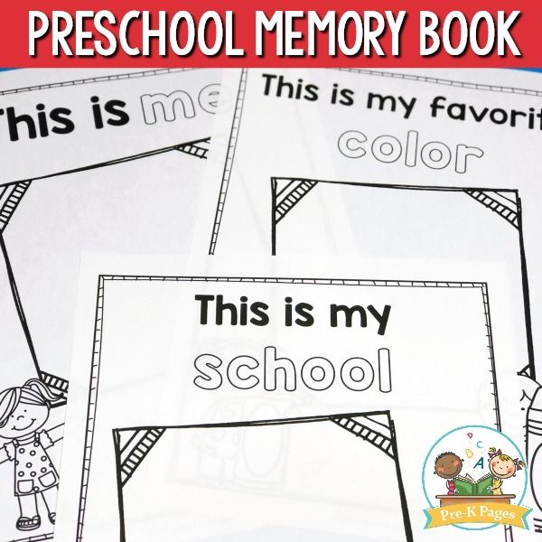 Preschool Memory Book Printable for the End of Year Preschool end