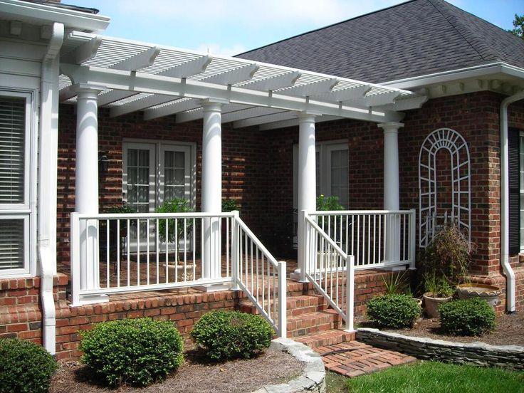 Front+porch+with+pergola | Custom Porch Pergola   Pergolas U0026 Trellises Photo