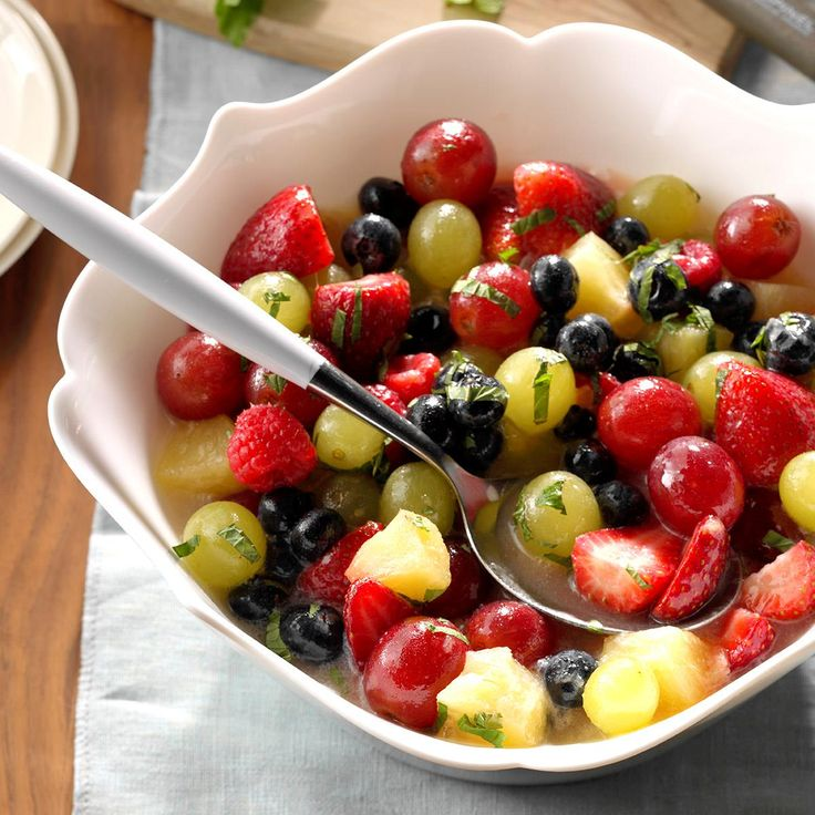 Pina Colada Fruit Salad Recipe -Give friends a taste of the tropics on warm summer days with this refreshing fruit blend. For a little extra punch, you might add a splash of coconut rum. —Carol Farnsworth, Greenwood, Indiana