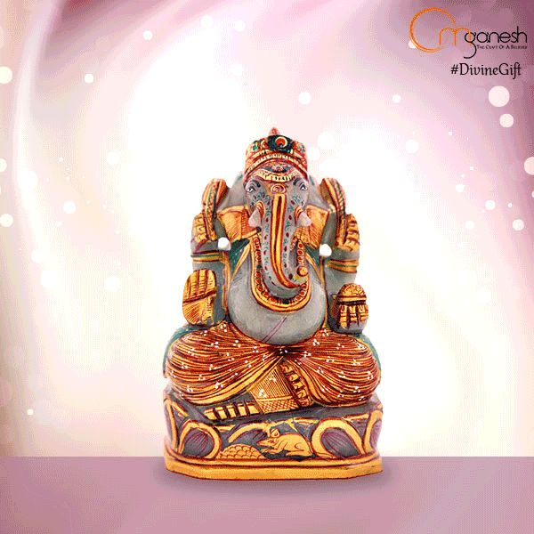 Offer the #DivineGift of a Lord Ganesha Idol made from Red Jade. This #BlessedGemstone destroys all doubt and inspires one to take action.