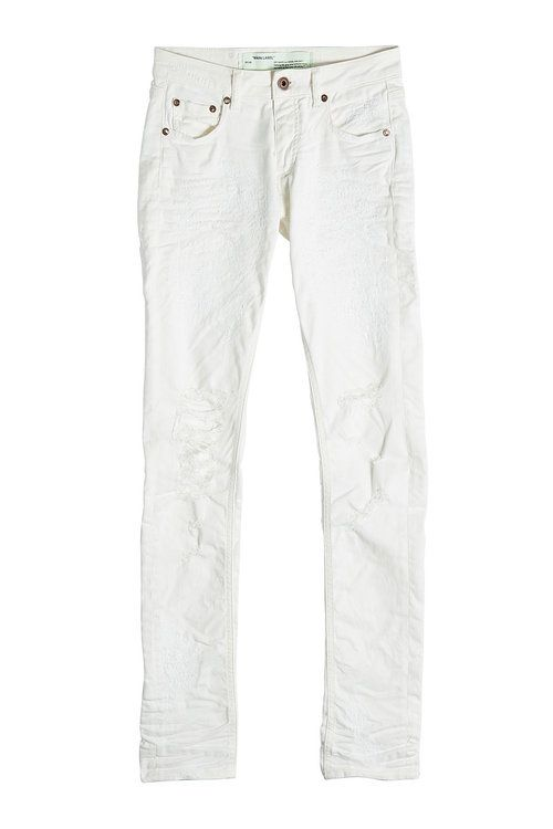OFF-WHITE Distressed Skinny Jeans. #off-white #cloth #