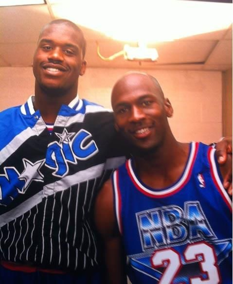 Shaquille O'Neal and Michael Jordan