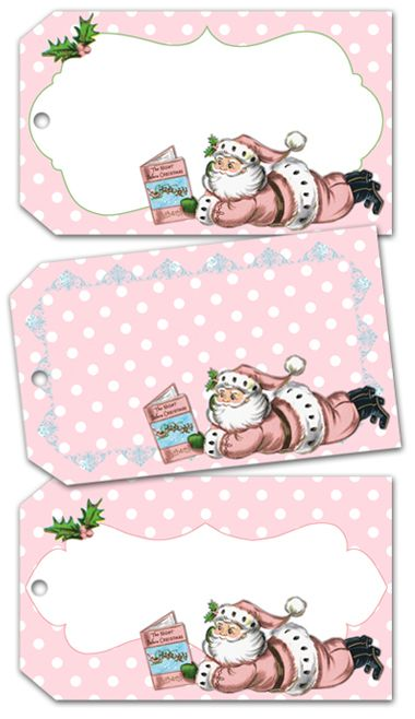 Shabby Blogs: Vintage Freebie with Keren: Shabby Pink Christmas Tags