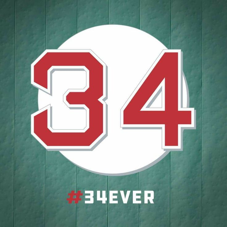 6/23/2017  Red Sox Nation 34Ever BigPapi 34 being Retired tonight at Fenway