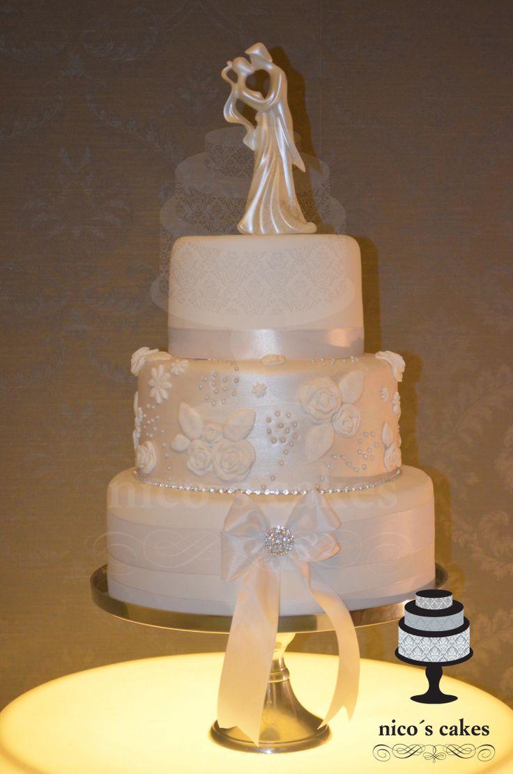 Torta de bodas Perlada