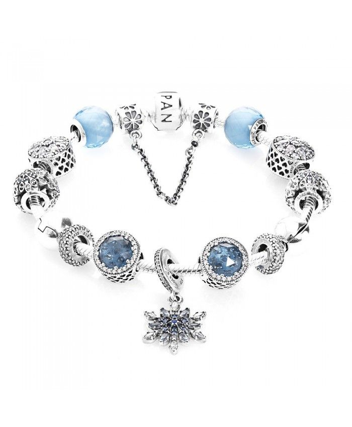 11e304496 PANDORA Advertised Crystallised Flurry Christmas Complete Bracelet With Pave  CZ