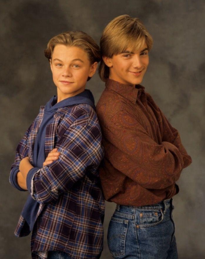 Leonardo DiCaprio and Jeremy Miller in 1991