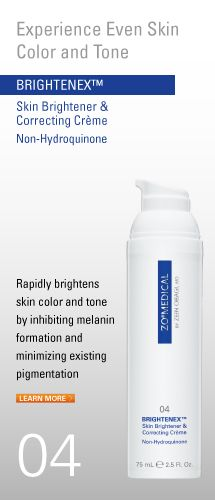Say goodbye to discoloration, brown spots, sun spots with ZO Skin Health - Brightenex