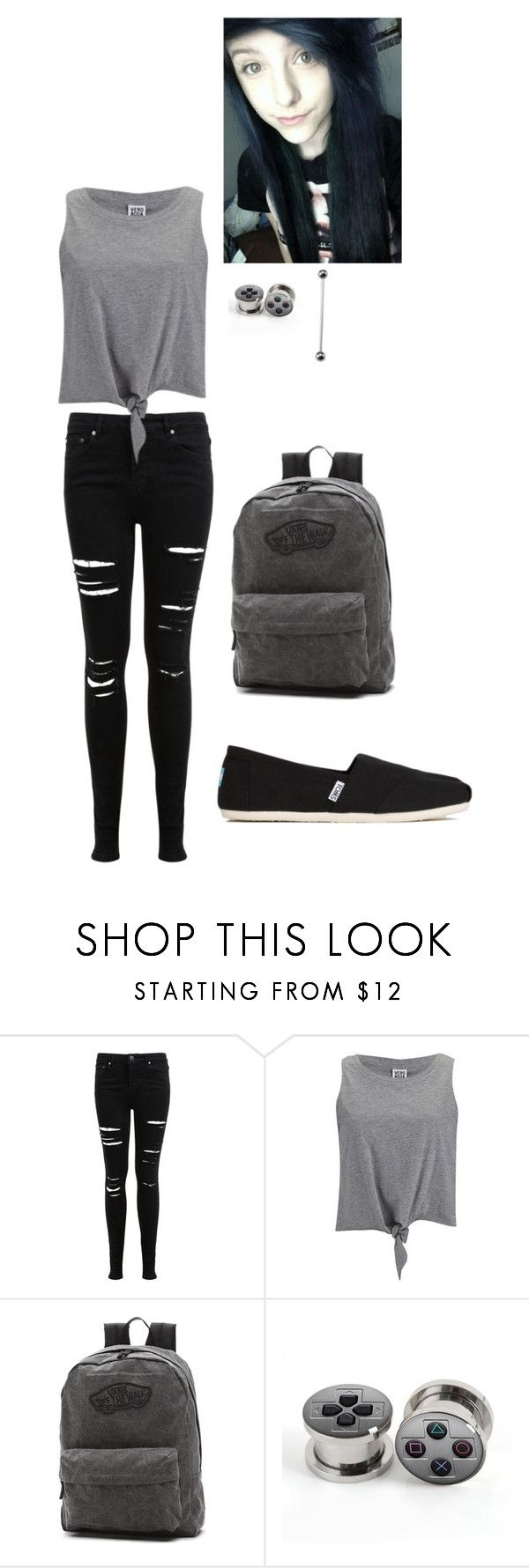 """Untitled #223"" by lelegreenwell ❤ liked on Polyvore featuring Miss Selfridge, Vero Moda, Vans and TOMS"