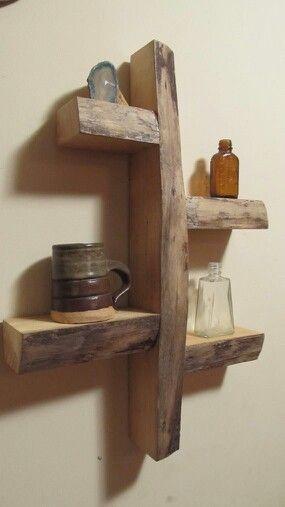 Gran y util idea para reutilizar troncos o pedazos de madera