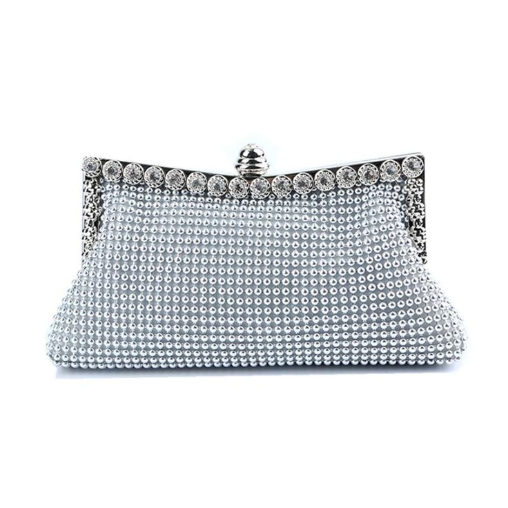 Boddenly Lady Handmade Dinner Party Evening Bag Luxury Diamond Clutch Hand Bag Christmas Gift for Wife Lover(silver 2). Unique fashion safe opening and closing. Suit for wedding bridal,parties,prom,night out,shopping,dinner,MANY colors choose perfectly for evening dress. Luxurious crystal evening bag--full rhinestone studded ,high quality fabric interior. Humanized disassembly chain design. Exquisite high-end plating chain. PERFECT Black Friday gift Christmas gift for your wife ,girls...