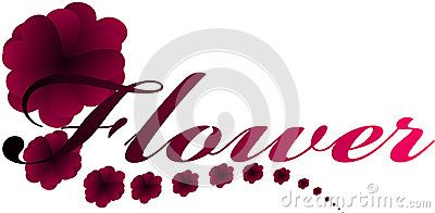 Vector drawing heart made up flowers and inscription.