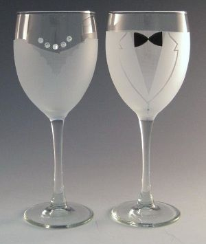 bride and groom wine glasses by asta glass set of two also can be purchased
