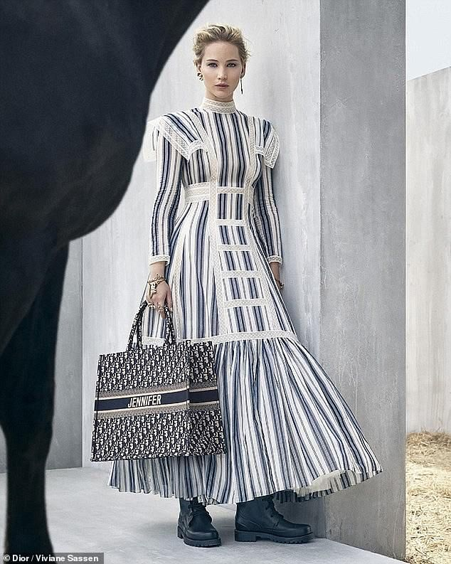 6bfb47227b6 Face of the brand: Jennifer Lawrence, 28, stars is the new Dior Cruise 2019  campaign