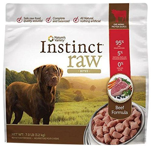 Nature's Variety Instinct Raw Frozen Bites for Dogs - Beef Formula - 7lb * Click on the image for additional details.