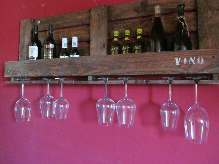 Weinregale - ***Weinregal VINO aus alter Industriepalette*** - ein Designerstück von La--Maison bei DaWanda