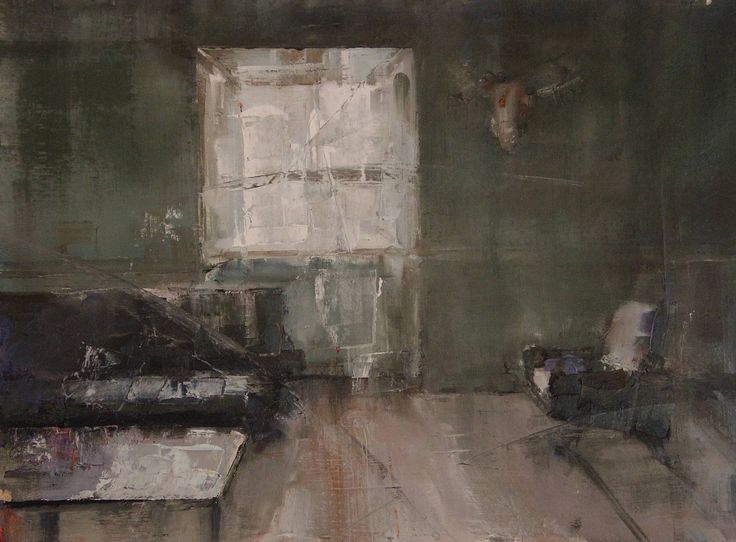 "Saatchi Art Artist: Fanny Nushka Moreaux; Oil 2014 Painting ""Study for Intérieur Collectionneur III, 2014"""