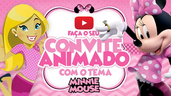 Convite Animado Virtual Minnie Rosa Gratis Para Baixar Com