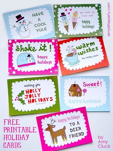 DIY: Printable Holiday Cards: Craft, Holiday Gift, Diy'S, Holiday Cards, Holidays, Christmas Printables, Free Printable, Christmas Gift, Printable Holiday