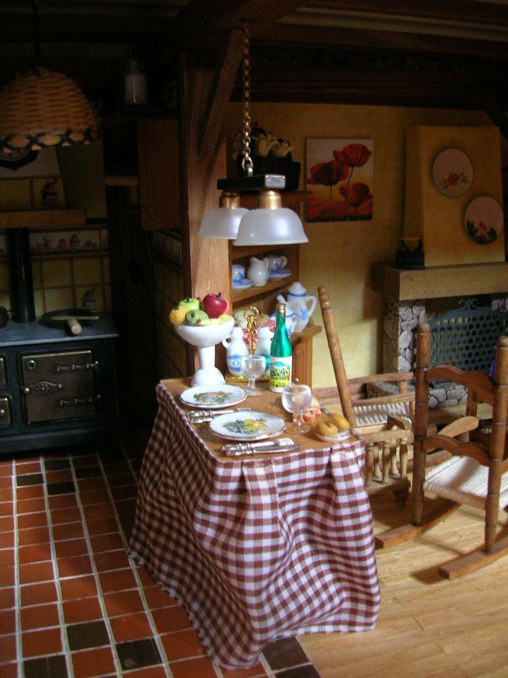 Cocina casa r stica sin parar de trastear miniaturas for Manualidades para casa rustica
