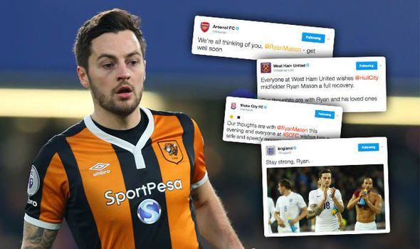 Get well soon! Football clubs send best wishes to Ryan Mason after injury against Chelsea   via Arsenal FC - Latest news gossip and videos http://ift.tt/2jPnb1z  Arsenal FC - Latest news gossip and videos IFTTT