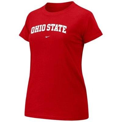 Nike Ohio State Buckeyes Ladies Scarlet Arch Crew T-shirt