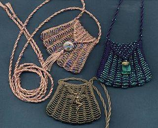 knitting bag with beads